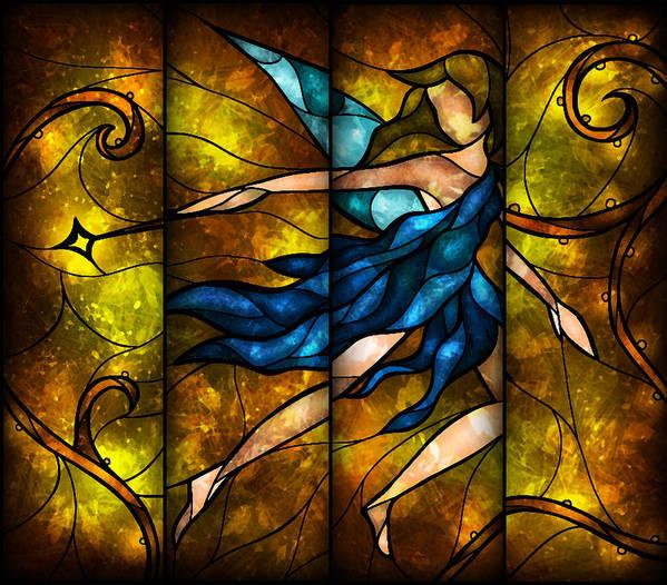 Fairy Poster featuring the digital art Fairy Tetraptych by Mandie Manzano
