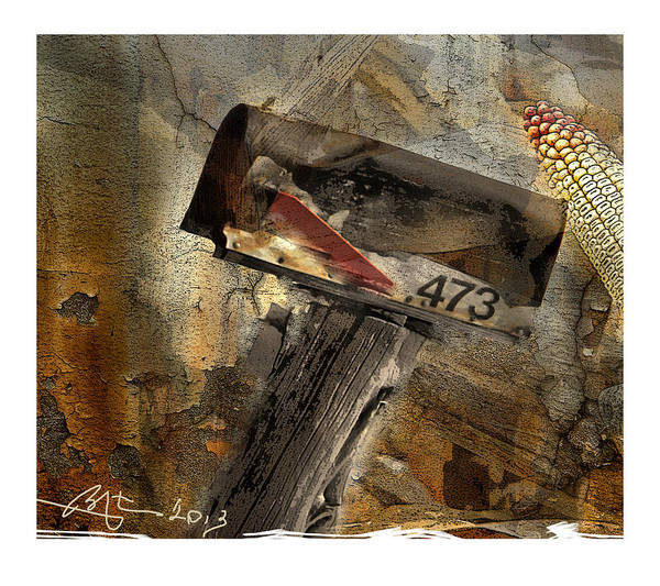 Mail Box Poster featuring the digital art Rural Route 473 by Bob Salo