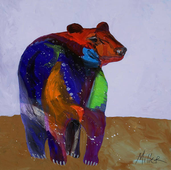 Black Bear Poster featuring the painting Big Bear by Tracy Miller
