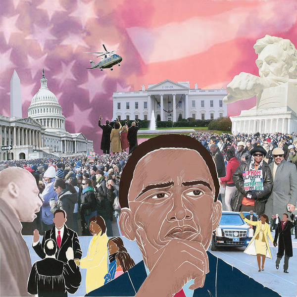 Barack Obama - President - Inauguration Day - Political - Poster featuring the mixed media A Day To Remember by Martha Rucker