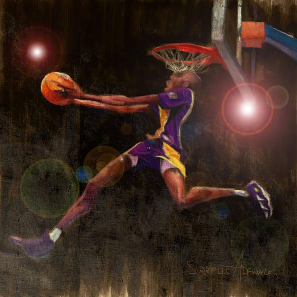 Kobe Bryant Poster featuring the painting Black Mamba by Jumaane Sorrells-Adewale