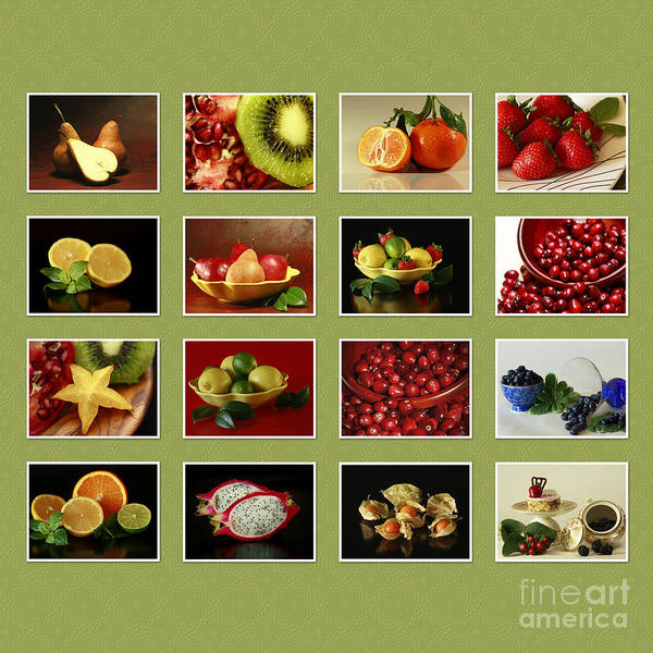 Healthy Poster featuring the photograph Healthy International Fruits Collection by Inspired Nature Photography Fine Art Photography