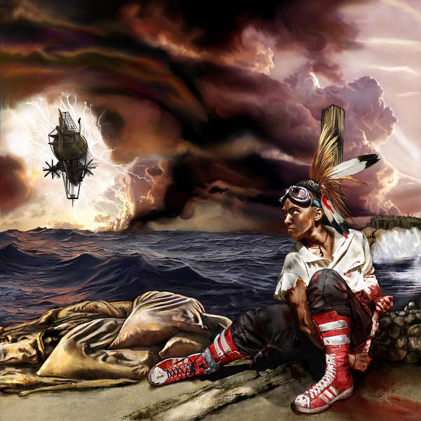 Steampunk Poster featuring the mixed media Marooned by Mandem
