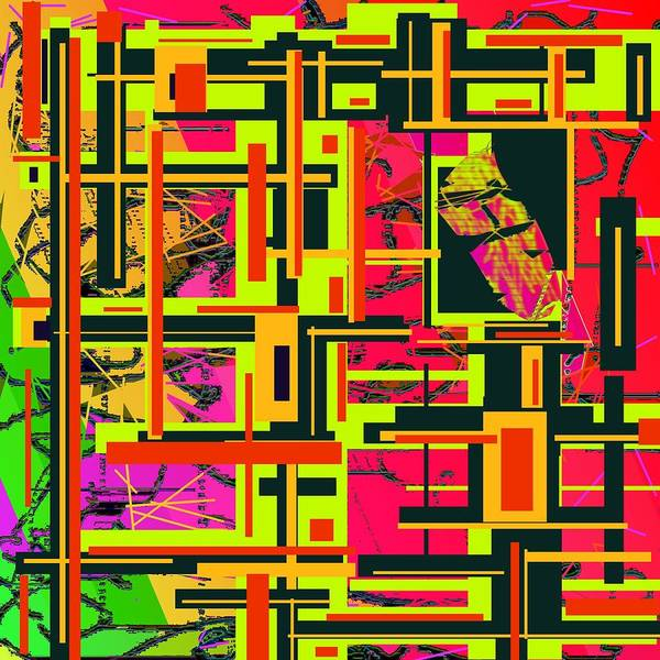 Abstract Art Poster featuring the digital art It's Complicated by Jacqueline Mason