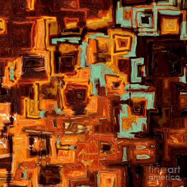 Abstract Poster featuring the painting Jesus Christ The Son Of David by Mark Lawrence