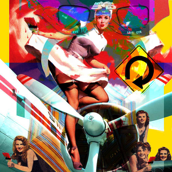 Girls Poster featuring the painting Paint Brush Girls by Robert Anderson