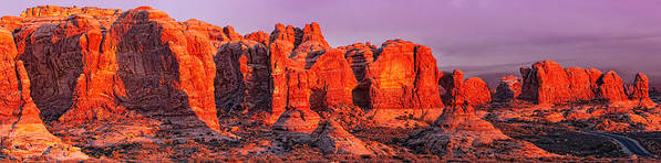 Arches National Park Poster featuring the photograph Arches National Park Pano One by Paul Basile