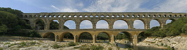France Poster featuring the photograph Pont Du Gard by Gary Lobdell