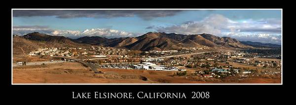 Landscape Poster featuring the photograph Lake Elsinore 2008 by Richard Gordon