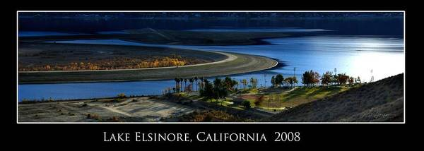 Lake Poster featuring the photograph Lake Elsinore Sunset by Richard Gordon