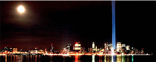New York Poster featuring the photograph A City's Lights by Richard Gerken