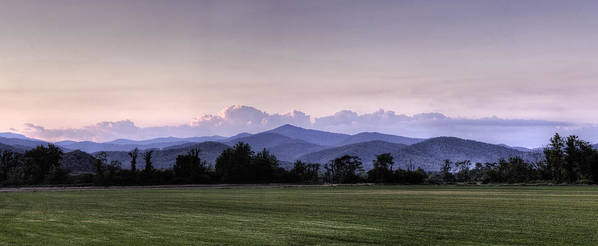 Panorama Poster featuring the photograph Mountain Sunset - North Carolina Landscape by Rob Travis