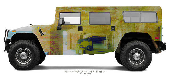 Landscape Poster featuring the photograph Hummer H1 Alpha Fort Sumter Interior by Jan W Faul