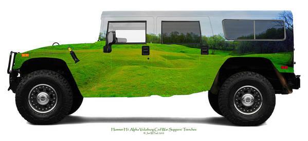 Landscape Poster featuring the photograph Hummer H1 Alpha Vicksburg Sappers Trench by Jan W Faul