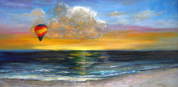 Landscape Poster featuring the painting Fly Away by Jeannette Ulrich