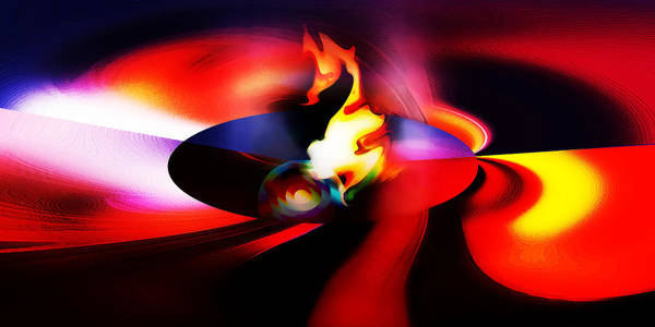Abstract Poster featuring the photograph Spaceship Malfunction by Terril Heilman