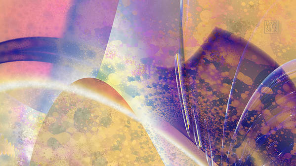 Geomorphic Poster featuring the digital art Geomorphic by Dan Turner