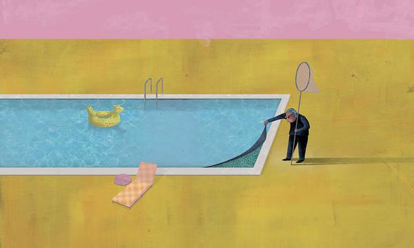 Dennis Wunsch Poster featuring the digital art Pool Animal 01 by Dennis Wunsch
