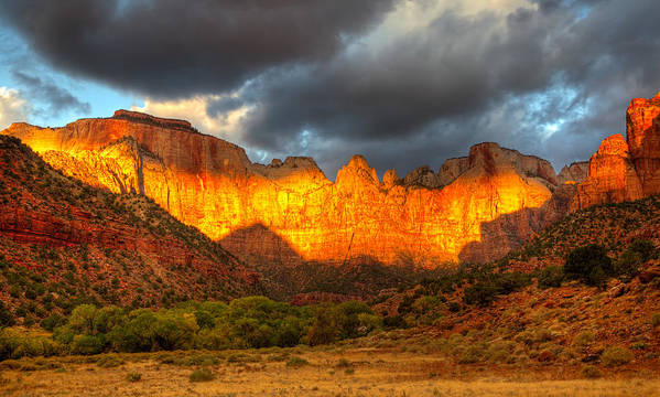 Zion National Park Poster featuring the photograph Towers Of The Virgin Two by Paul Basile