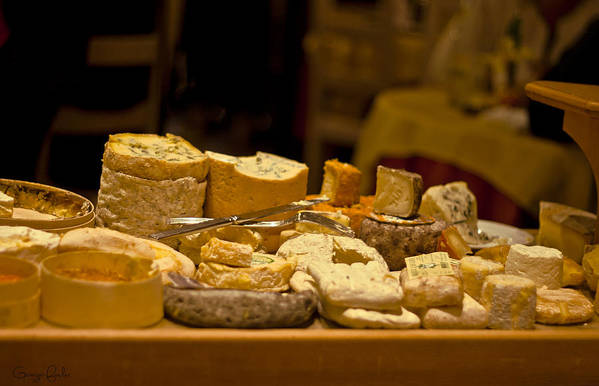 Aged Poster featuring the photograph Cheese Selection by Georgia Fowler