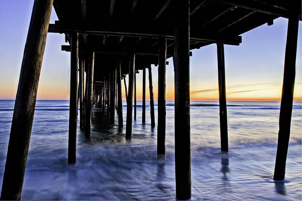 Nags Head Poster featuring the photograph Nags Head Pier - A Different View by Rob Travis