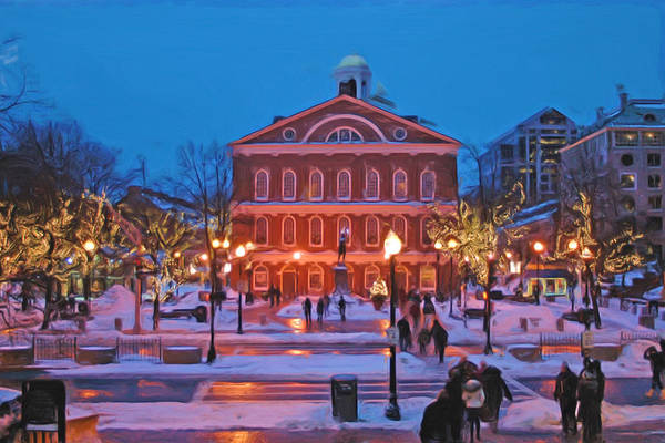 Boston Poster featuring the photograph Faneuil Hall Holiday- Boston by Joann Vitali