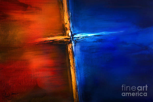 The Cross Poster featuring the mixed media The Cross by Shevon Johnson