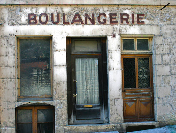 Old French Store Poster featuring the photograph Boulangerie by Georgia Fowler
