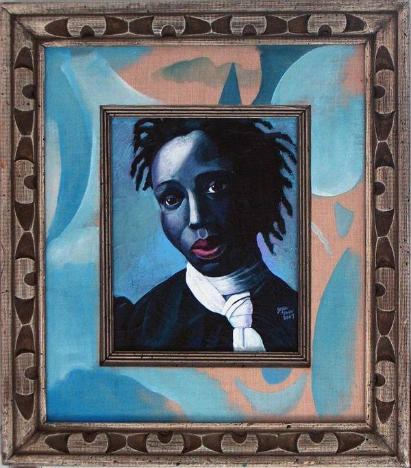 Portrait Poster featuring the painting Black Girl Is Beautiful by Joyce Owens