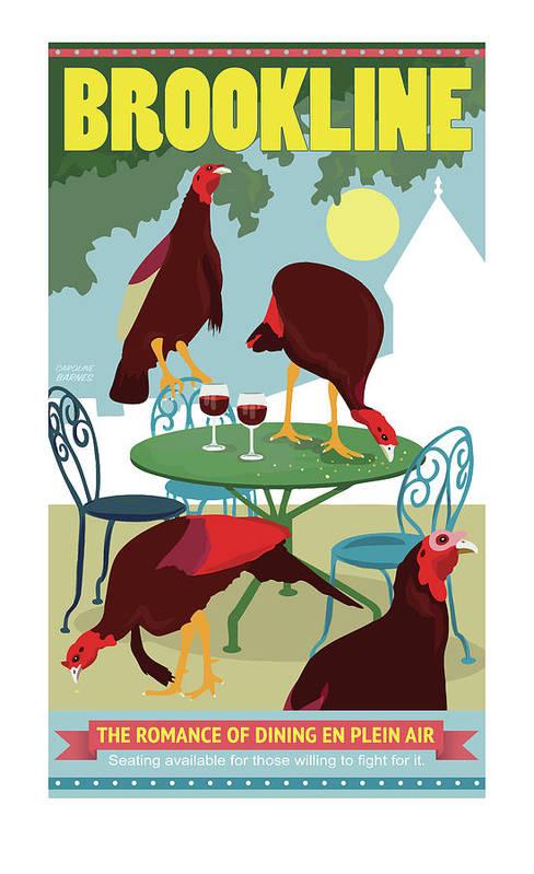 Dining En Plein Air by Caroline Barnes