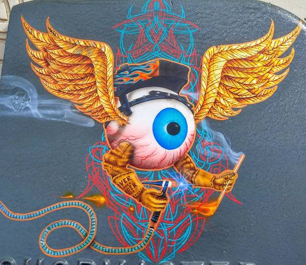 Flying Eyeball Weld Art by Eric Bossert