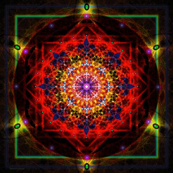Mandala Poster featuring the digital art Mandala of Womans Spiritual Genesis by Stephen Lucas