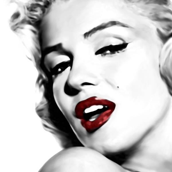 Marilyn Monroe Poster featuring the digital art Marilyn Monroe by Laurence Adamson