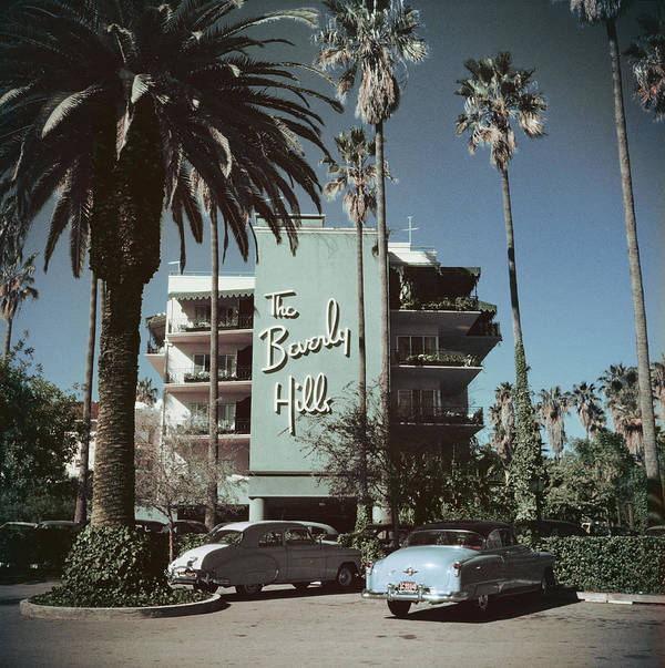 1950-1959 Poster featuring the photograph Beverly Hills Hotel by Slim Aarons