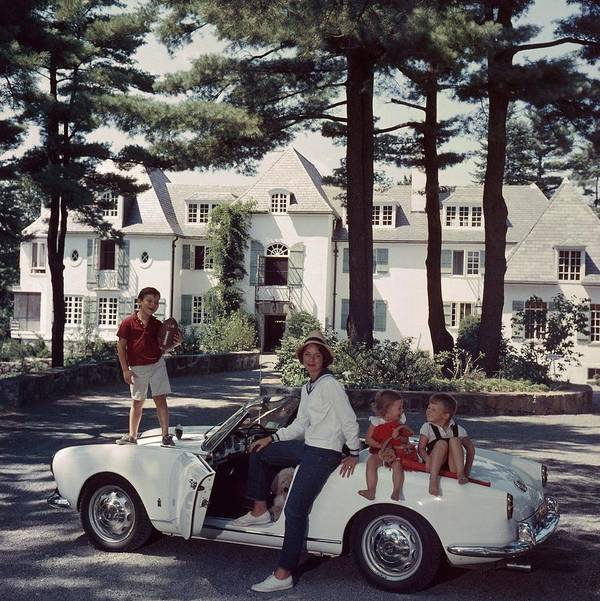 Child Poster featuring the photograph Cabot Family by Slim Aarons
