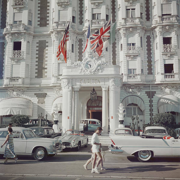 People Poster featuring the photograph Carlton Hotel by Slim Aarons