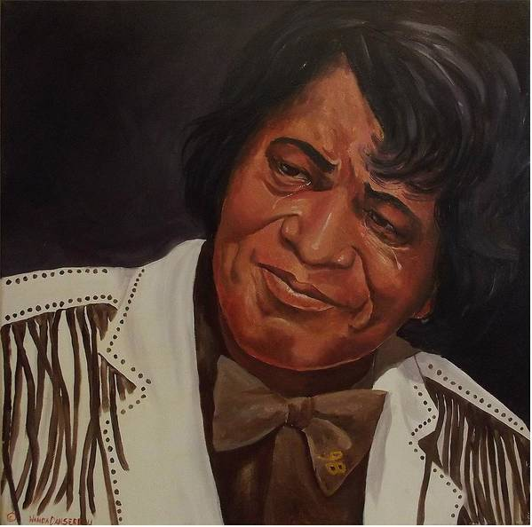 James Brown Poster featuring the painting Tears Of Joy by Wanda Dansereau