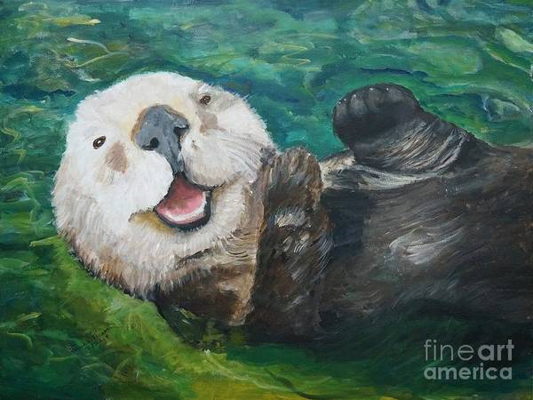 Otter Smile by Frankie Picasso