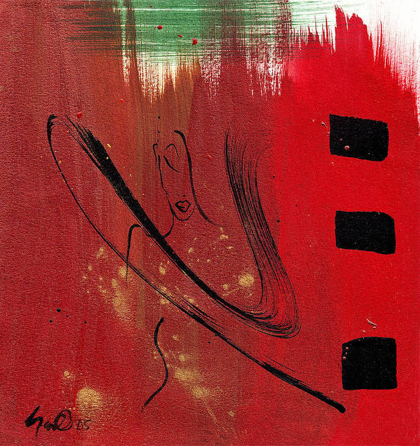 Abstract Poster featuring the mixed media Inspiration by Simone Fennell
