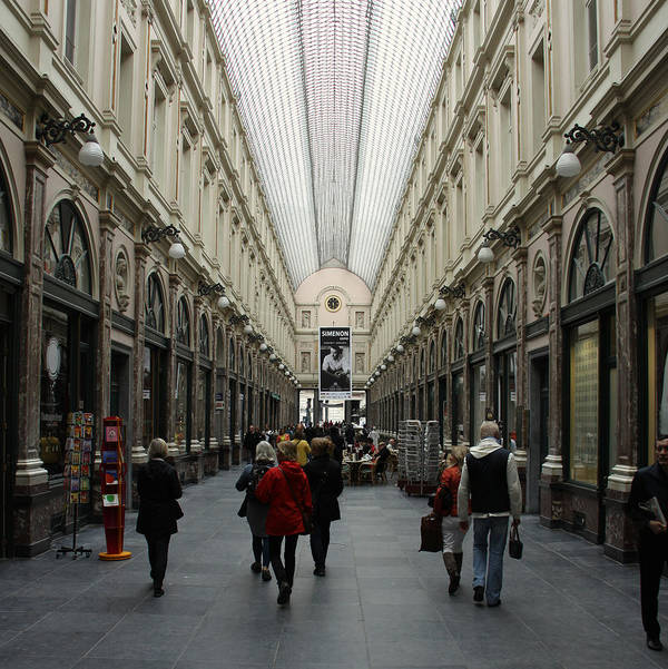 Bruxelles Poster featuring the photograph Les Galeries A Bruxelles by Sebastian Krieger