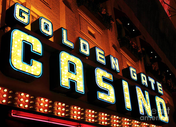 Golden Gate Casino Poster featuring the photograph Golden Gate Casino by John Rizzuto