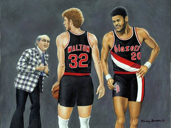 Sports Poster featuring the painting Three Champs by Henry Frison