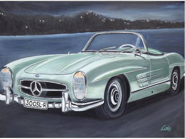 Vintage Mercedes Poster By Joseph Love