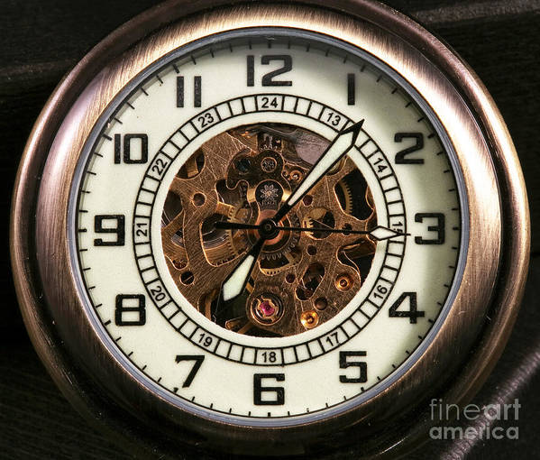 Pocket Watch Poster featuring the photograph Pocket Watch by John Rizzuto