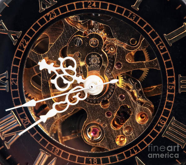 Steampunk Time Poster featuring the photograph Steampunk Time by John Rizzuto