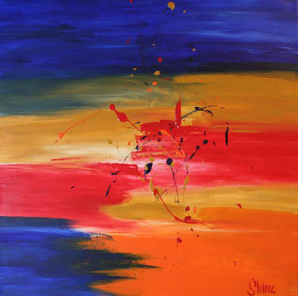 Abstract Painting Poster featuring the painting For My Husband by Shiree Gilmore
