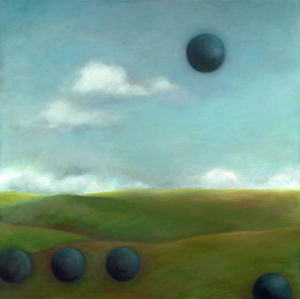 Landscape Poster featuring the painting Juggling 2 by Katherine DuBose Fuerst