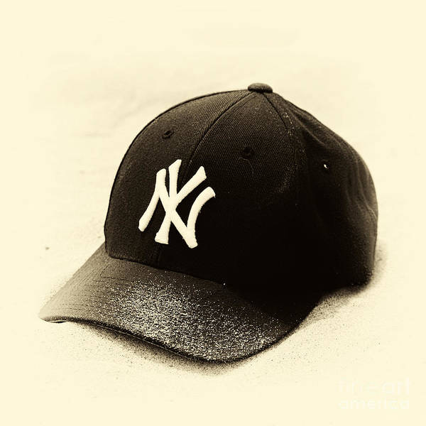 Yankee Cap Poster featuring the photograph Beach Cap Vintage by John Rizzuto