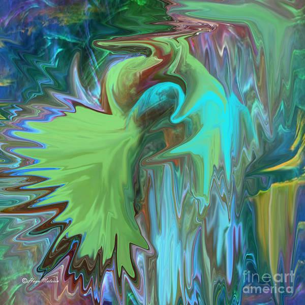 A Broken Wing Poster featuring the digital art A Broken Wing - Abstract by Haya Matorin