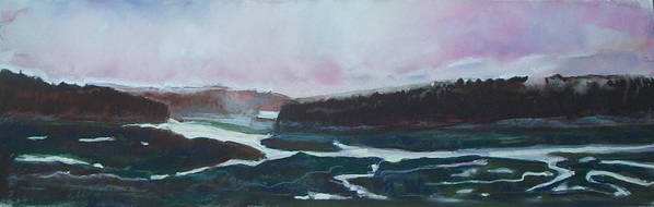 Maine Poster featuring the pastel Towards Edgecomb by Grace Keown